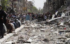 البدء بإزالة الانقاض من مخيم اليرموك