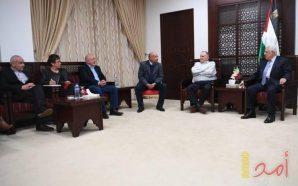 أمام وفد إسرائيلي.. عباس يعلن التزامه بالسلام والمقاومة الشعبية السلمية