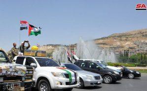 مسيرة سيارات بدمشق إحياء ليوم القدس العالمي