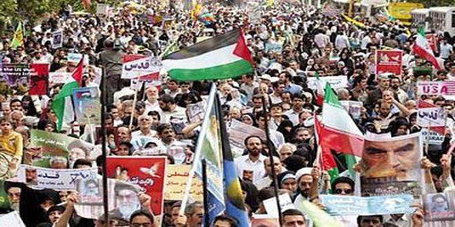 البيان الختامي لمسيرات يوم القدس العالمي:المقاومة أفضل السبل للتصدي للاحتلال الإسرائيلي-فيديو