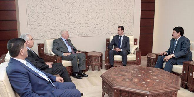 الرئيس الأسد : الحرب التي يخوضها الجيشان السوري والعراقي واحدة وأي انتصار يتحقق ضد الإرهاب في أي من البلدين هو نصر للطرفين