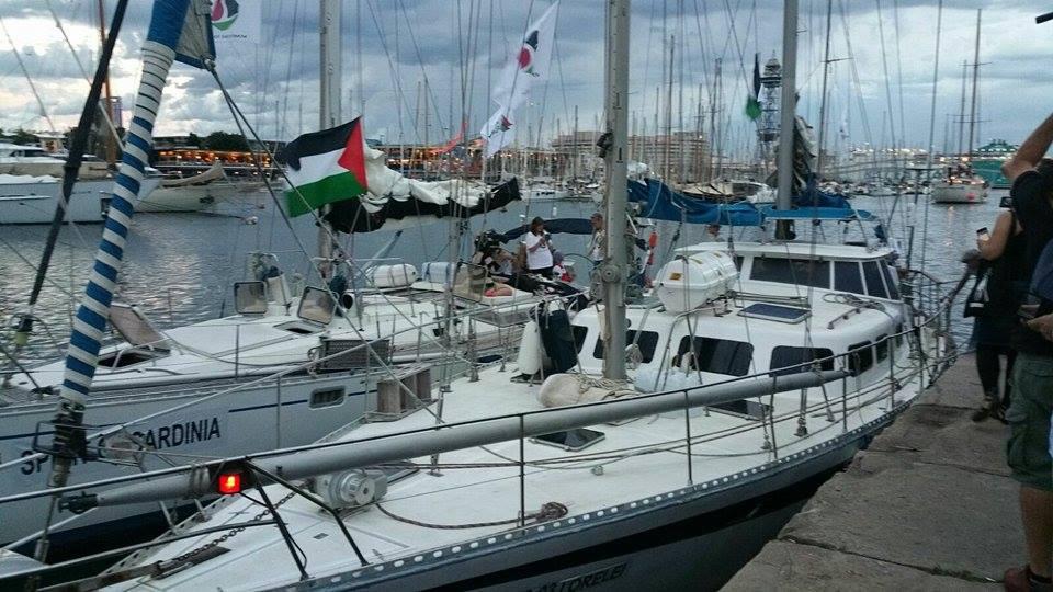 وفد نسائي اوروبي في رحلة بحرية من برشلونة الى غزة لدعم صمود و عدالة قضية الشعب الفلسطيني