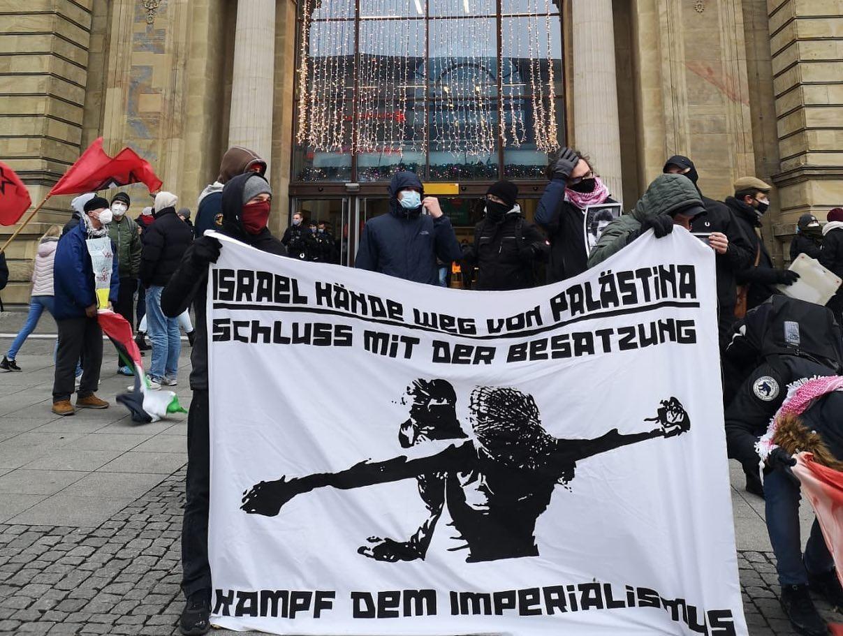 تظاهرة شبابية حاشدة في مدينة ماجديبورغ الألمانية دعماً للحركة الأسيرة وضد العنصرية والصهيونية