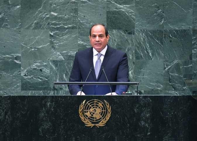 السيسي: على المجتمع الدولي اتخاذ الإجراءات اللازمة لتحسين أوضاع الشعب الفلسطيني