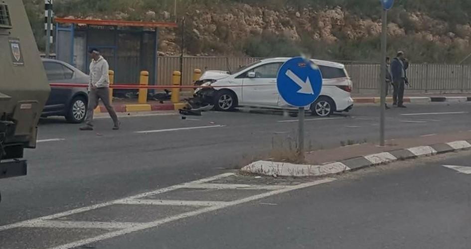 القدس: إصابة جندي صهيوني بعملية دهس على حاجز قلنديا