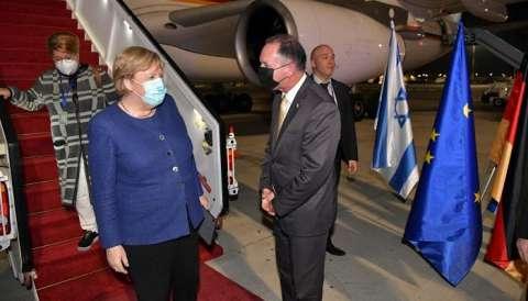 في أول لقاء لها مع بينيت وهرتسوج.. المستشارة الألمانية تصل إلى إسرائيل لإجراء محادثات حول البرنامج النووي الإيراني والشأن الفلسطيني
