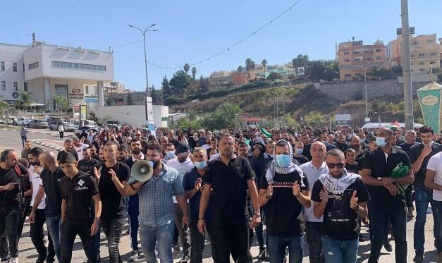 الداخل: المئات يتظاهرون ضد العنف والجريمة في أم الفحم