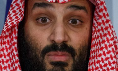 MADRID, SPAIN - APRIL 12:  Saudi Arabia Crown Prince Mohammed bin Salman looks on during a ceremony at Moncloa Palace on April 12, 2018 in Madrid, Spain. Bin Salman's visit to Spain is part of a tour to meet world leaders in United States and Europe. Spain plans to sign a sale of 2 billion Euros arms, that includes five naval corvettes.  (Photo by Pablo Blazquez Dominguez/Getty Images)